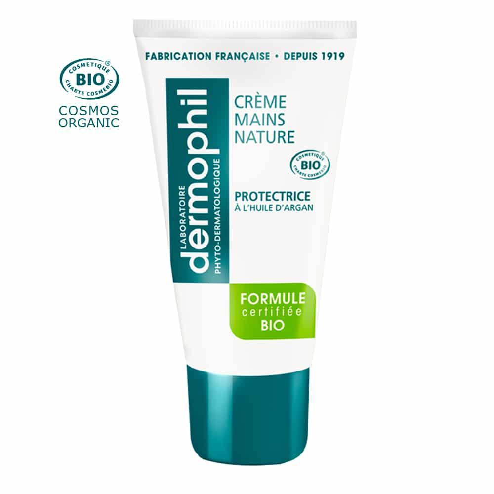 Produits vendus en grande surface - Crème Mains Hydratante / Mains Sèches - Crème Mains Nature BIO - Dermophil