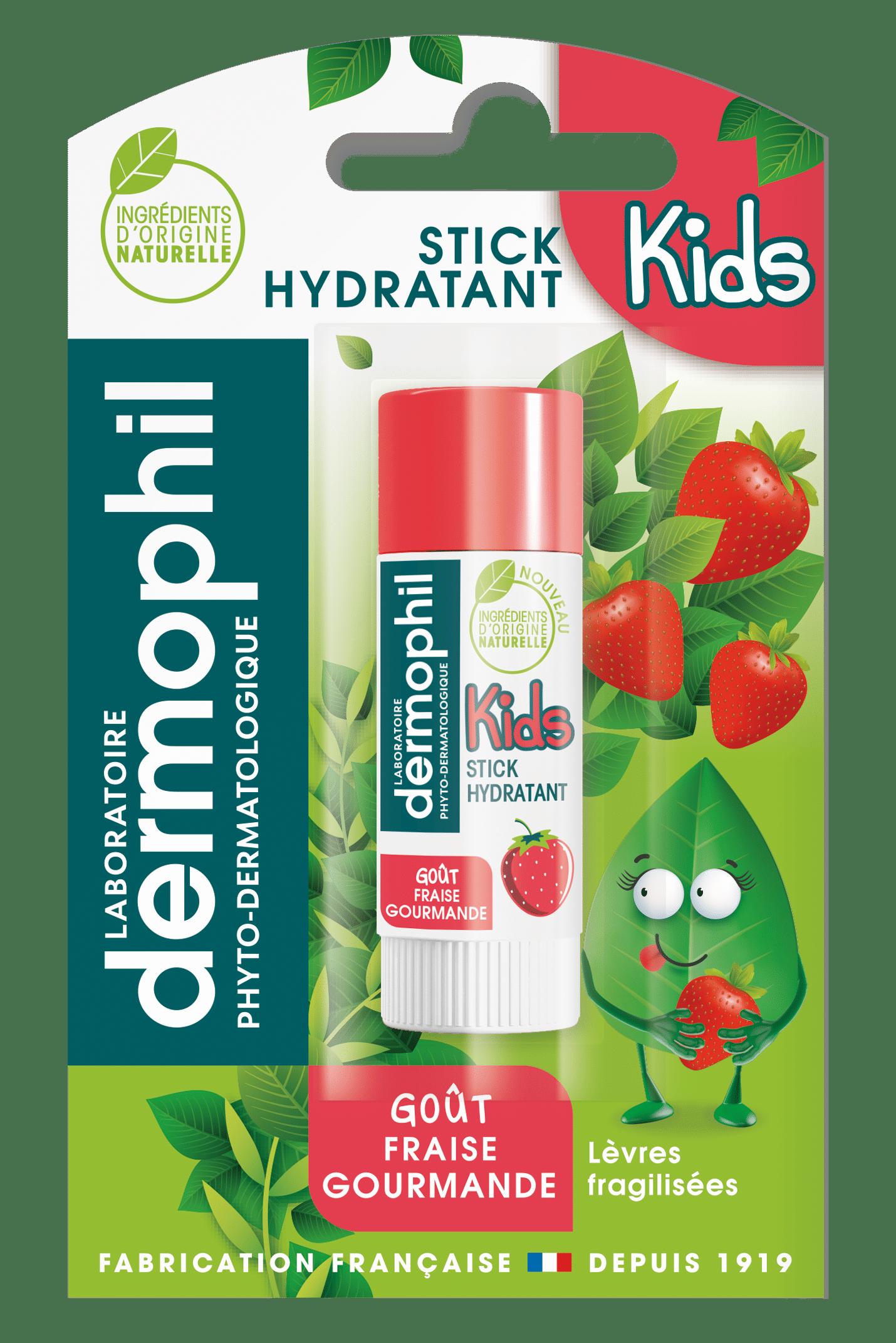 Soin des lèvres - Produits vendus en grande surface - Stick Fraise Gourmande - Dermophil