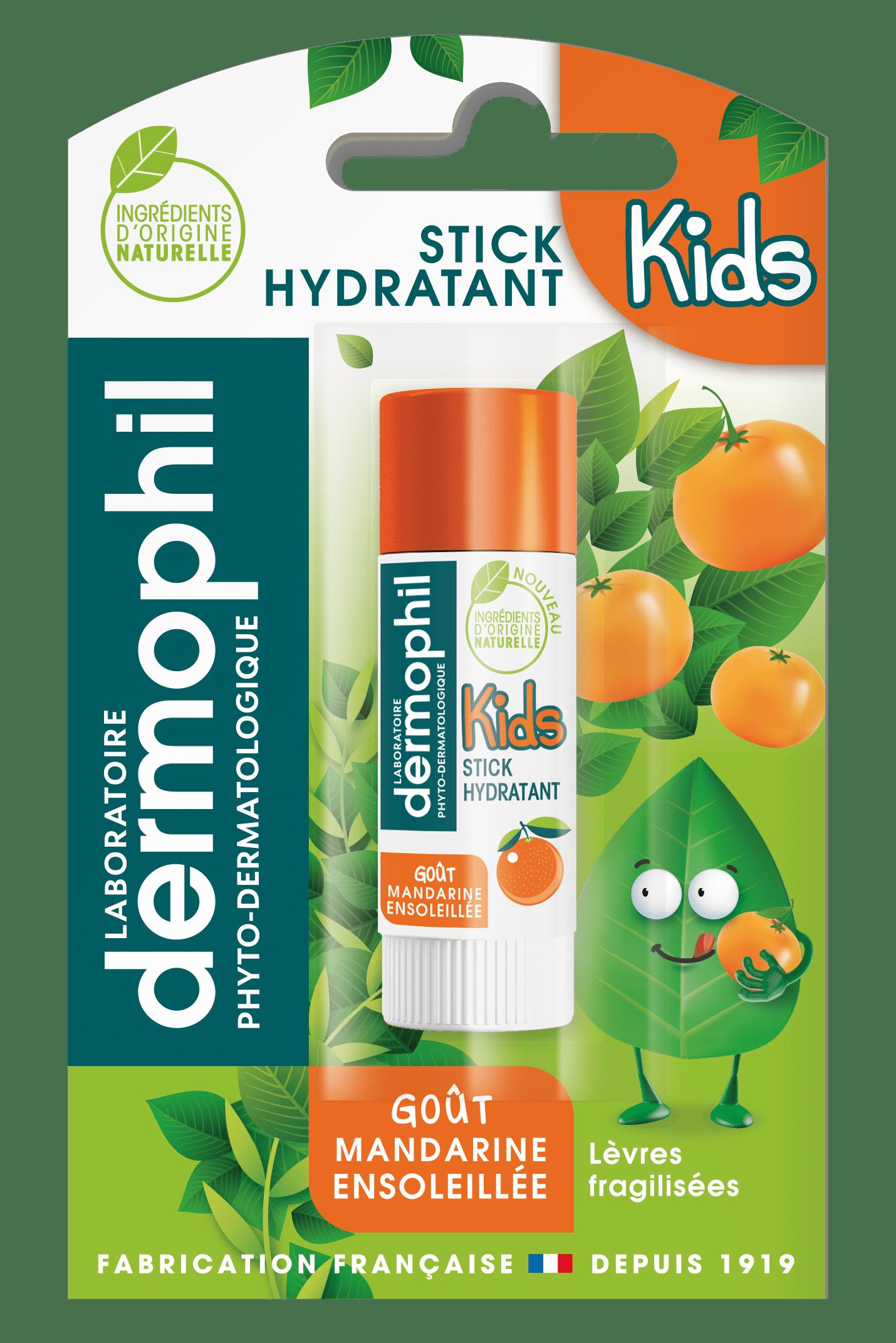 Soin des lèvres - Produits vendus en grande surface - Stick Mandarine Ensoleillée - Dermophil