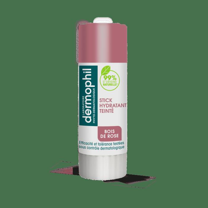 Produits vendus en grande surface - Baume à Lèvres Teinté - Hydratant - Stick Lèvres Soin Teinté Bois de Rose - Dermophil